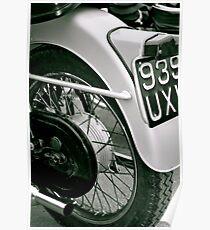 Vintage Triumph (black&white) Poster
