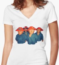 Devo Hugo tee V.3 Women's Fitted V-Neck T-Shirt