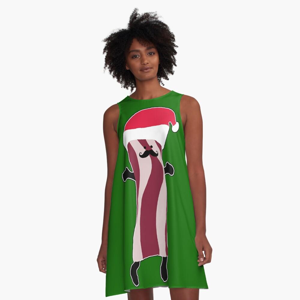 Santa Bacon A-Line Dress