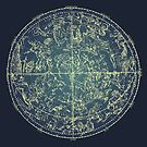 Antique Constellation of Northern Stars 19th Century Astronomy by Glimmersmith