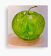 Large green apple Canvas Print