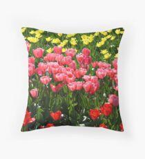 The famous dutch tulip fields Throw Pillow