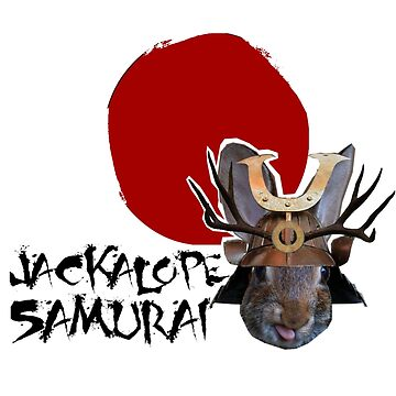 Jackalope Samurai by mrwuscience