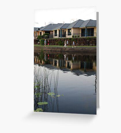 Reflecting on Suburbia Greeting Card