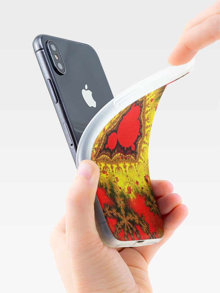 Alternate view of Red Mandelbrot II iPhone Case & Cover