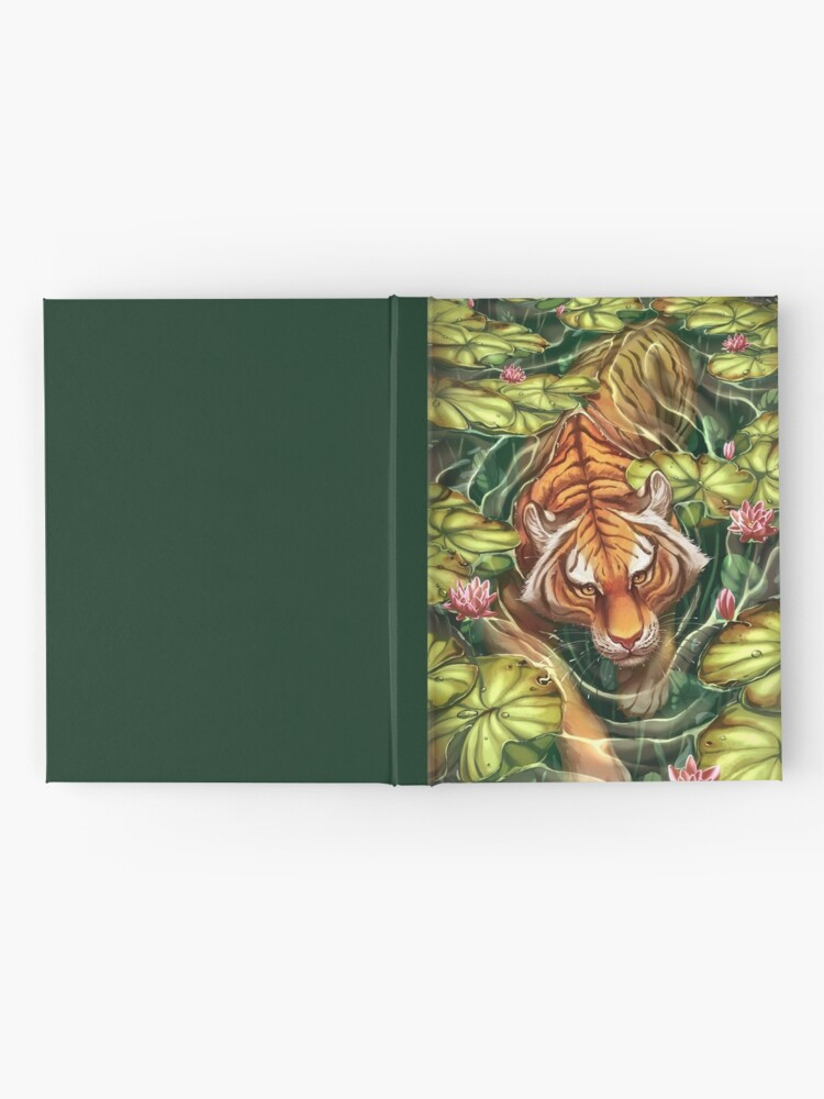 Alternate view of Tiger in the Lillies Hardcover Journal