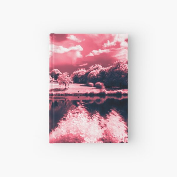 enchanted lake and pink trees Hardcover Journal