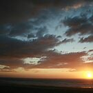 Sunset Over the Ocean by FarWest