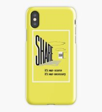 Share Sugar -- WW2 Rationing iPhone Case