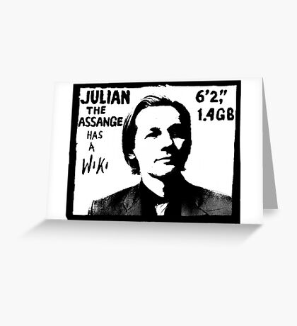 Julian Assange has a Wiki Greeting Card