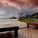 Stormy morning at Currumbin Beach by flexigav
