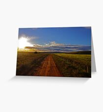 Road to nowhere (almost) Greeting Card