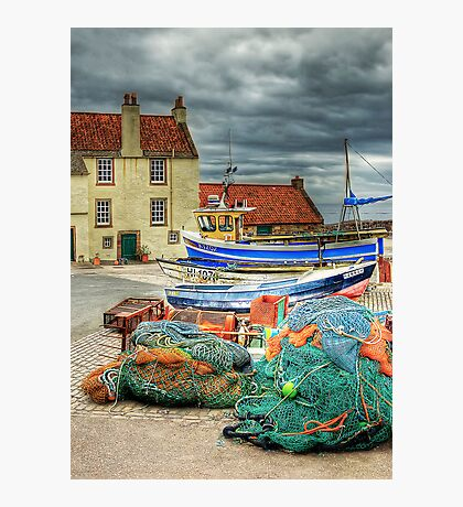 Boats & Nets Photographic Print