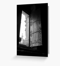 The door is open Greeting Card