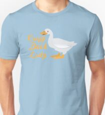Crazy Duck Lady (fancy) with white duck Unisex T-Shirt