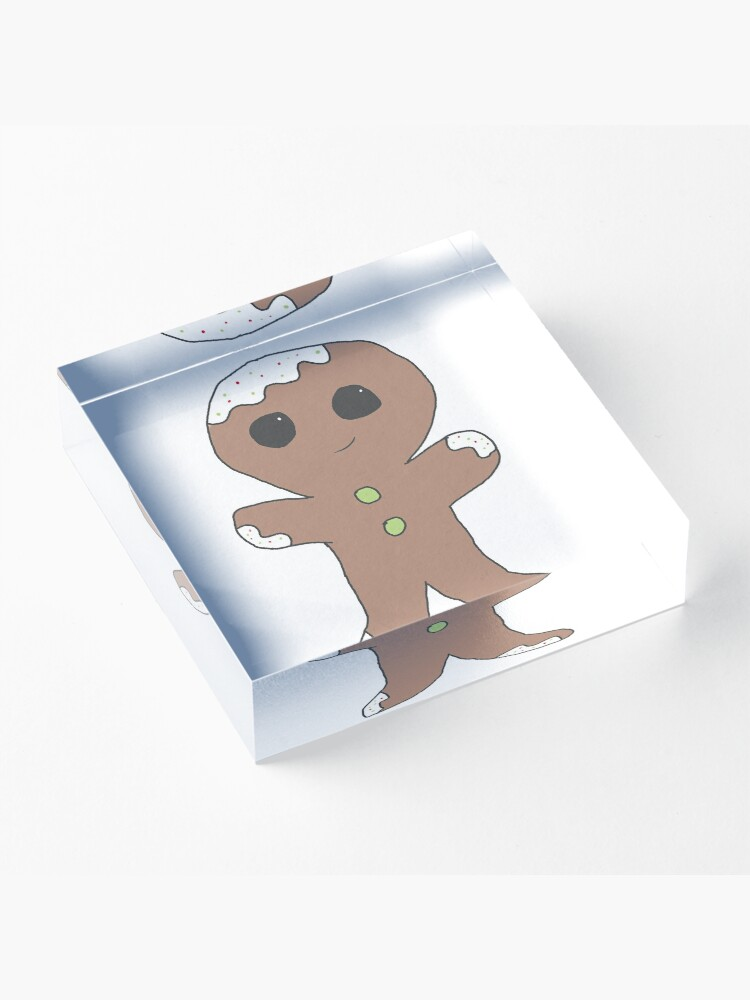 Alternate view of Gingerbread man Acrylic Block