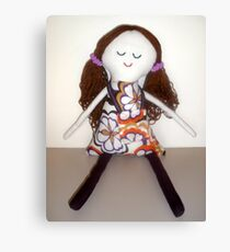 Handmade rag doll - Claudia Canvas Print