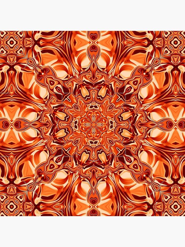 Liquefied Flow VI - Orange by ifourdezign