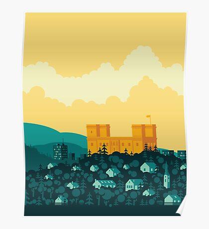 Golden castle Poster