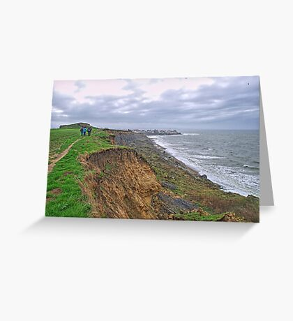 A walk on the cliffs to Audresselles Greeting Card