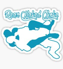 Rear Naked Choke Mixed Martial Arts Blue  Sticker