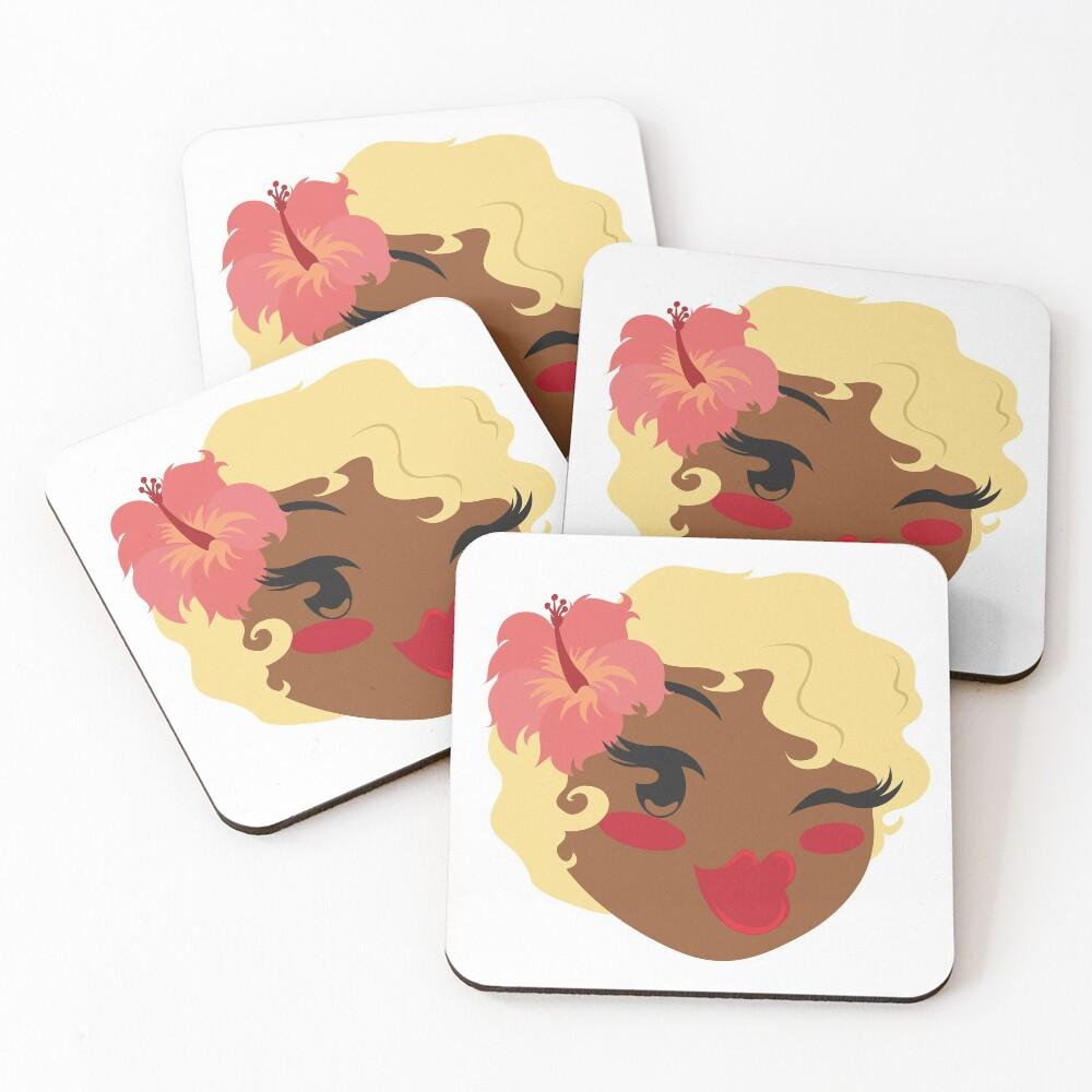Pincurls & Parasols Private Listing Coasters (Set of 4)