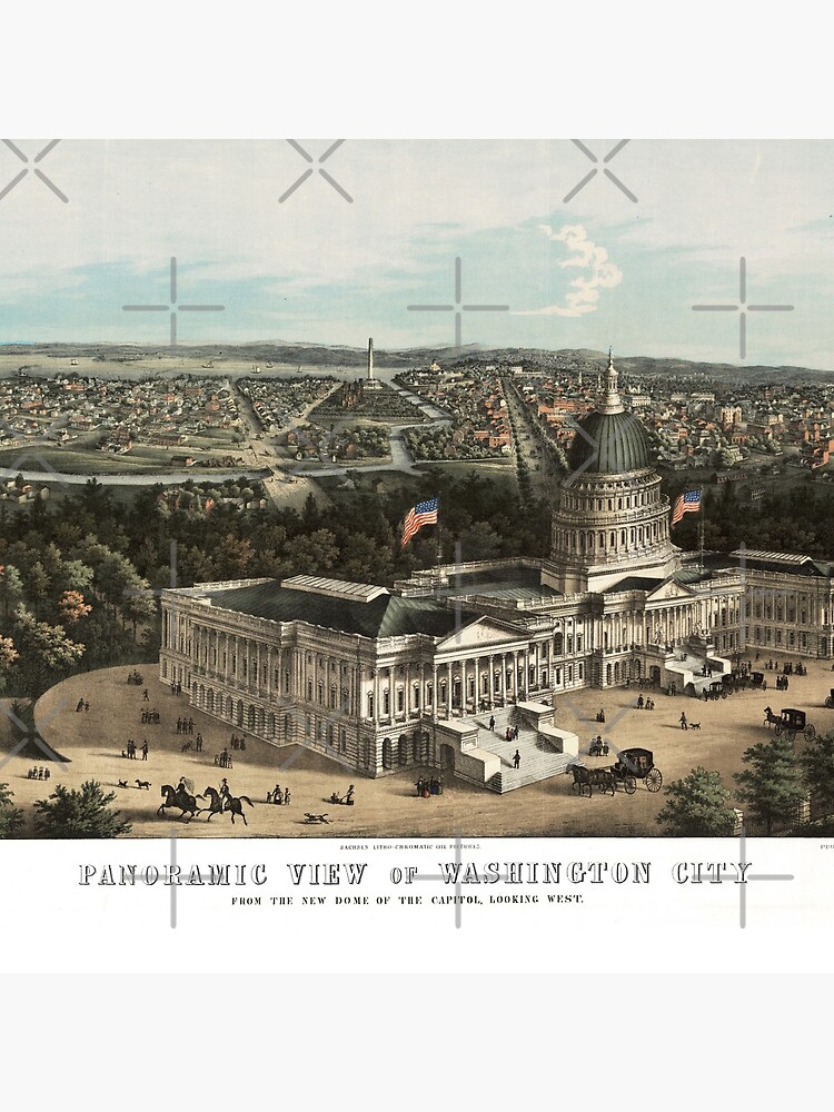 19th century bird's eye view of Washington by DC-Confidential