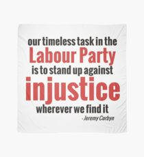 Stand up Against Injustice - Corbyn Scarf