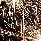Spark Explosion  by Bernie Stronner