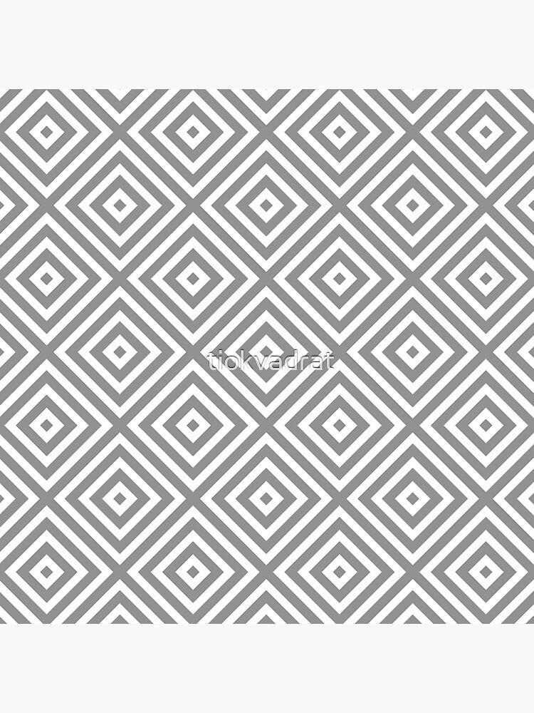 Diamonds - White on Grey for Neutral Decors by tiokvadrat