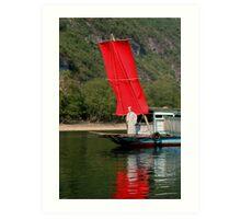 RED Sail Fine Art - Li River, China Art Print