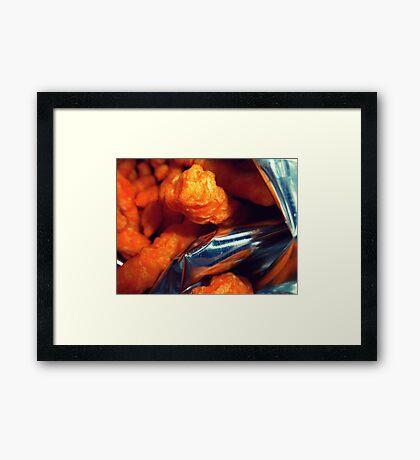 04-17-11: Cheeto Fiend Framed Print