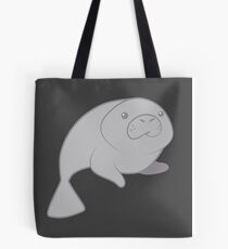 cute grey manatee porpoise sea cow Tote Bag