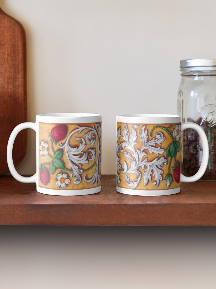 Alternate view of Medieval Strawberries and Acanthus Mug