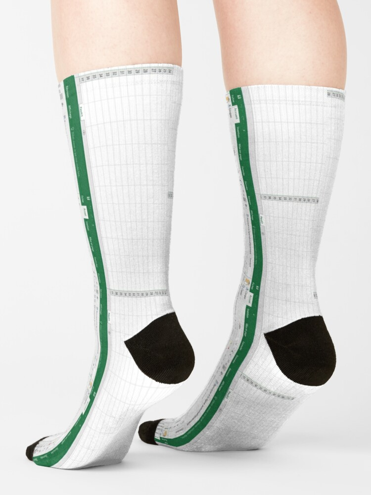 Alternate view of Excel spreadsheet Socks