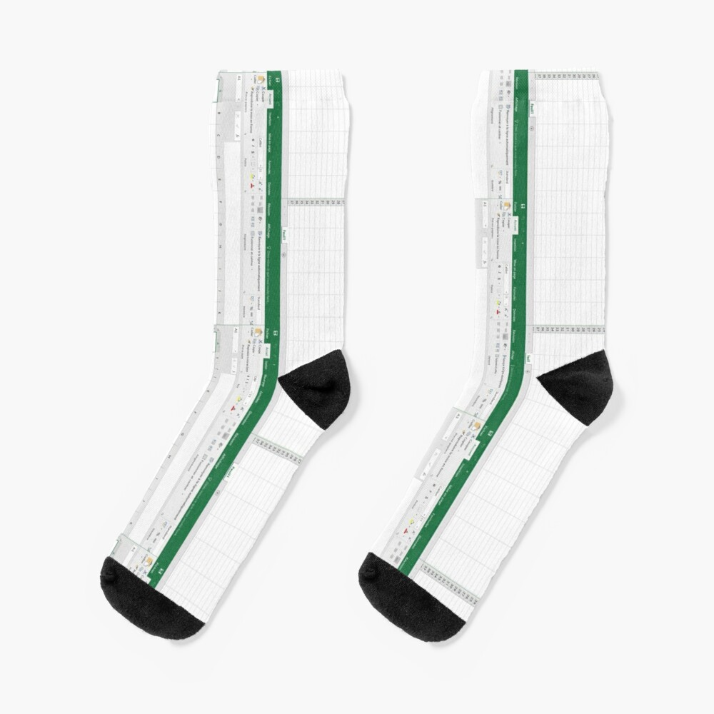 Excel spreadsheet Socks
