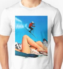 Skiing Time Slim Fit T-Shirt