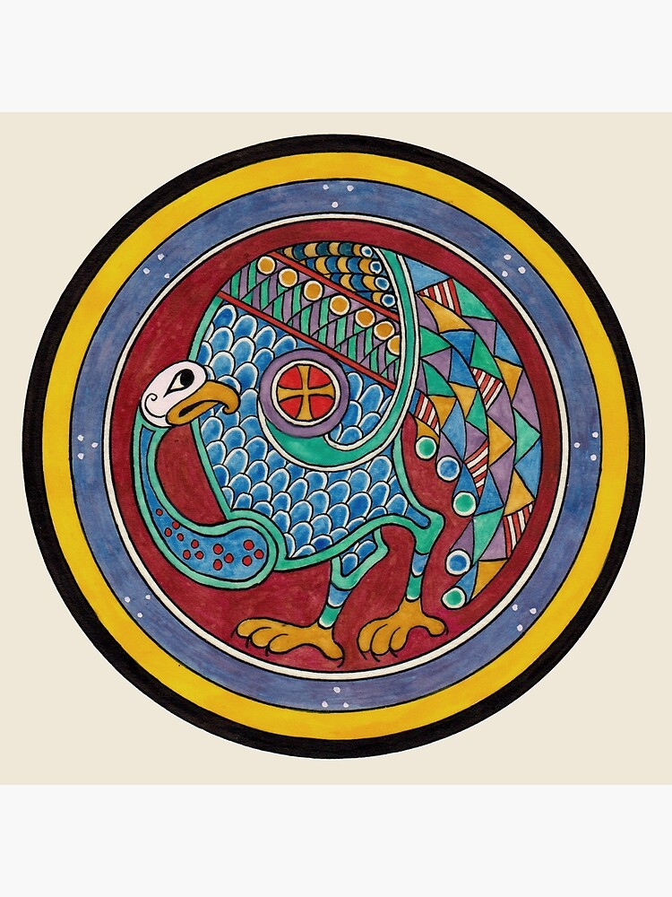 Book of Kells Celtic peacock by TCilluminate