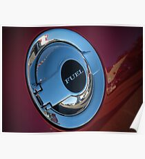 Chrome Fuel cap Dodge Challenger Poster