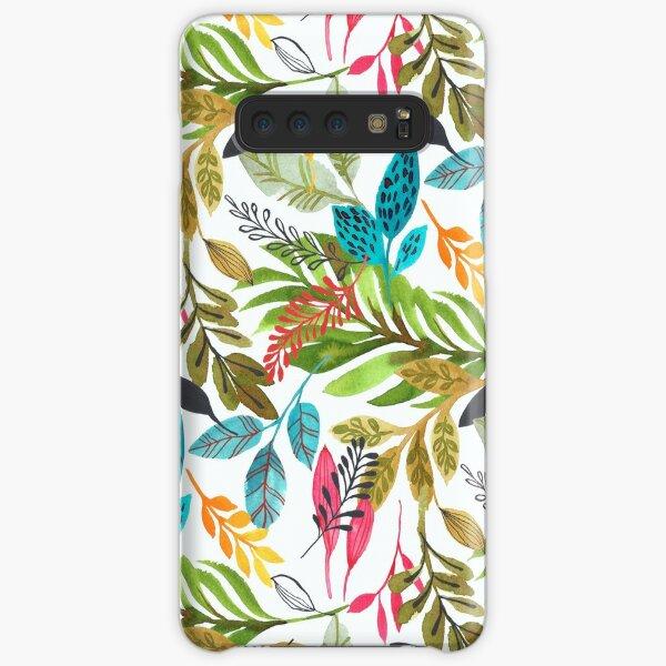 watercolor jungle  Samsung Galaxy Snap Case