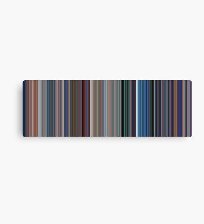 Moviebarcode: Monsters, Inc. (2001) [Simplified Colors] Canvas Print