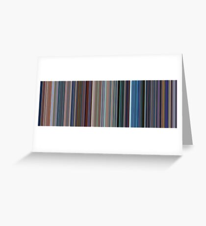 Moviebarcode: Monsters, Inc. (2001) [Simplified Colors] Greeting Card