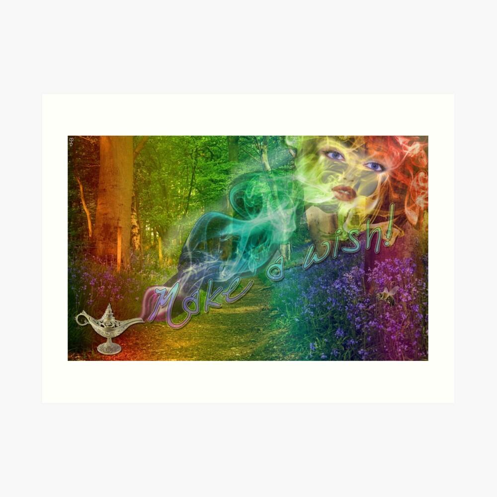 Magick Genie - Make A Wish Art Print