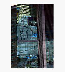 Reflection of blue-Shanghai skyscraper Photographic Print