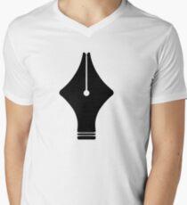Fountain Pen Mens V-Neck T-Shirt