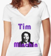 Tim Minchin Face Women's Fitted V-Neck T-Shirt