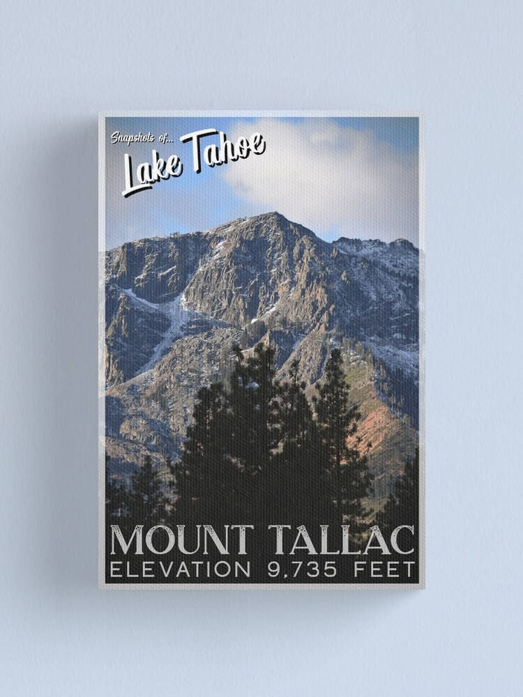Alternate view of Snapshots of Tahoe: Mount Tallac Canvas Print