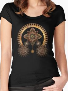 Vintage Steampunk Machine Thing Women's Fitted Scoop T-Shirt