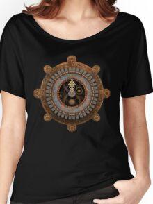Infernal Steampunk Vintage Clock Face Women's Relaxed Fit T-Shirt
