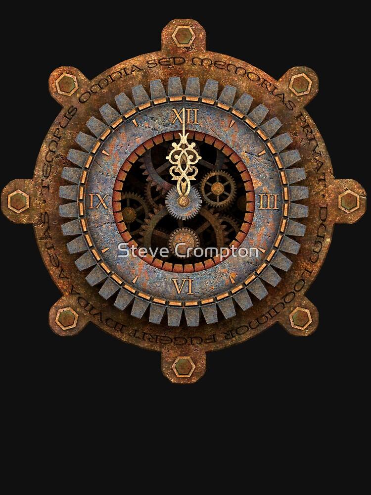 Infernal Steampunk Vintage Clock Face by SC001